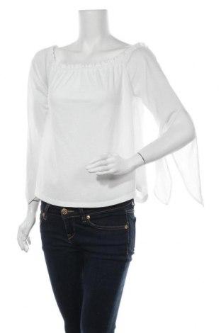 Γυναικεία μπλούζα Bershka, Μέγεθος S, Χρώμα Λευκό, Τιμή 11,69€