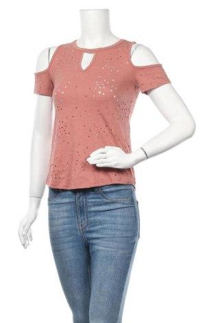 Дамска блуза Dex, Размер XS, Цвят Розов, 65% памук, 35% полиестер, Цена 4,20лв.