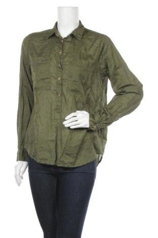 Дамска блуза H&M L.O.G.G., Размер M, Цвят Зелен, Памук, Цена 9,24лв.