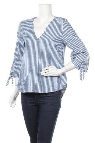 Дамска блуза H&M L.O.G.G., Размер S, Цвят Син, Памук, Цена 17,01лв.