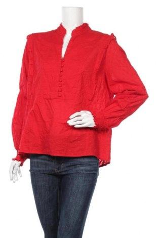 Дамска блуза H&M L.O.G.G., Размер XL, Цвят Червен, Памук, Цена 17,96лв.