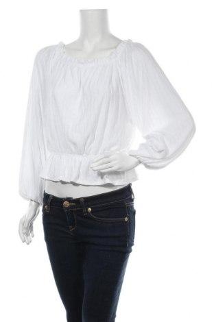 Дамска блуза H&M L.O.G.G., Размер L, Цвят Бял, 68% полиестер, 31% вискоза, 1% еластан, Цена 17,85лв.