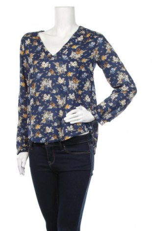 Дамска блуза H&M L.O.G.G., Размер S, Цвят Син, Вискоза, Цена 17,96лв.