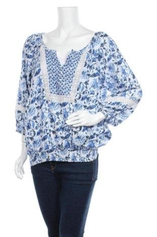 Дамска блуза H&M L.O.G.G., Размер XL, Цвят Син, Памук, Цена 17,85лв.