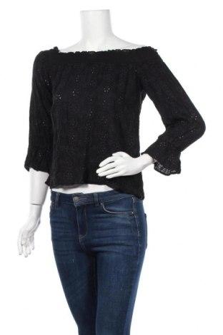 Дамска блуза H&M L.O.G.G., Размер XS, Цвят Черен, Вискоза, памук, Цена 9,45лв.