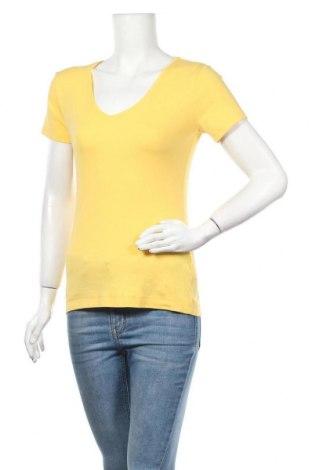 Дамска блуза H&M L.O.G.G., Размер L, Цвят Жълт, 97% памук, 3% еластан, Цена 10,92лв.