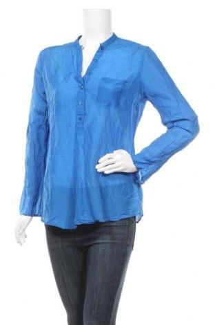 Γυναικεία μπλούζα Hallhuber, Μέγεθος M, Χρώμα Μπλέ, 70% βαμβάκι, 30% μετάξι, Τιμή 28,58€