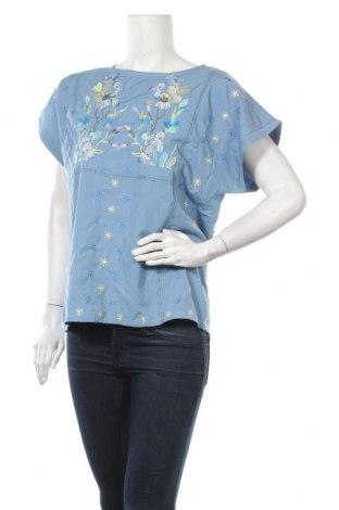 Bluză de femei Miss Look, Mărime L, Culoare Albastru, Bumbac, poliester, Preț 53,55 Lei