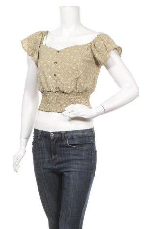 Дамска блуза Monteau, Размер S, Цвят Зелен, 98% полиестер, 2% еластан, Цена 4,46лв.