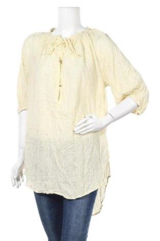 Γυναικεία μπλούζα Noa Noa, Μέγεθος M, Χρώμα Κίτρινο, 95% βαμβάκι, 5% μεταλλικά νήματα, Τιμή 9,43€