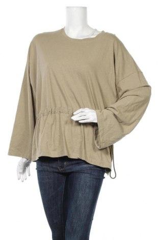 Γυναικεία μπλούζα OAK + FORT, Μέγεθος S, Χρώμα Πράσινο, Βαμβάκι, Τιμή 8,18€