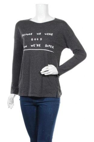 Дамска блуза Oysho, Размер XS, Цвят Сив, 50% памук, 50% полиестер, Цена 17,15лв.
