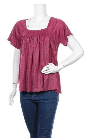 Дамска блуза St-Martins, Размер L, Цвят Розов, 85% полиестер, 15% полиамид, Цена 5,36лв.