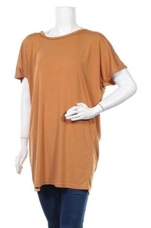 Дамска блуза Zavanna, Размер M, Цвят Кафяв, 95% полиестер, 5% еластан, Цена 5,51лв.