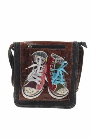 Дамска чанта, Цвят Сив, Текстил, еко кожа, Цена 24,15лв.