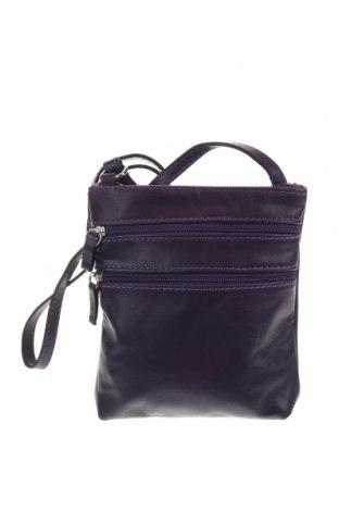 Дамска чанта, Цвят Лилав, Естествена кожа, Цена 38,75лв.