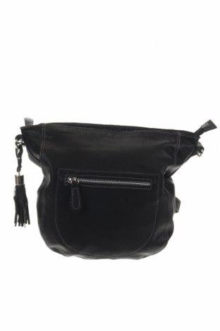 Дамска чанта 5th Avenue, Цвят Черен, Естествена кожа, Цена 40,64лв.