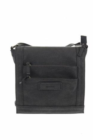 Дамска чанта Beagles, Цвят Сив, Еко кожа, Цена 24,57лв.
