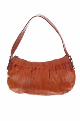 Дамска чанта Becksondergaard, Цвят Оранжев, Естествена кожа, Цена 46,50лв.