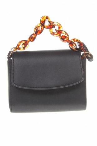 Дамска чанта Bershka, Цвят Черен, Еко кожа, Цена 27,00лв.