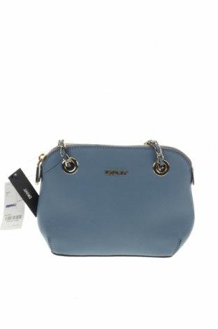 Дамска чанта DKNY, Цвят Син, Естествена кожа, Цена 271,95лв.
