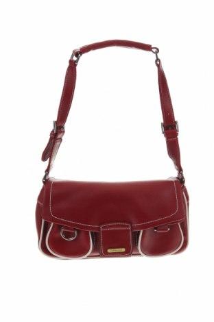 Дамска чанта Fossil, Цвят Червен, Естествена кожа, Цена 81,90лв.