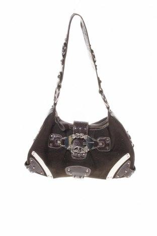 Дамска чанта Guess, Цвят Кафяв, Текстил, еко кожа, метал, Цена 27,00лв.