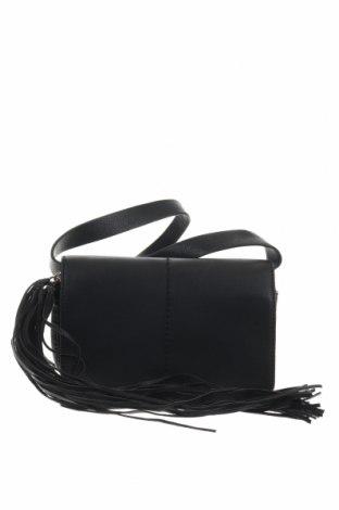 Дамска чанта H&M, Цвят Черен, Еко кожа, Цена 24,57лв.
