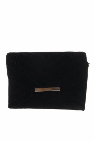 Дамска чанта Hallhuber, Цвят Черен, Текстил, еко кожа, Цена 26,57лв.