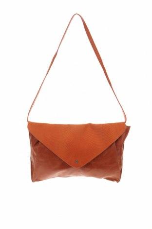 Дамска чанта Maanii by Adax, Цвят Оранжев, Естествена кожа, Цена 49,14лв.