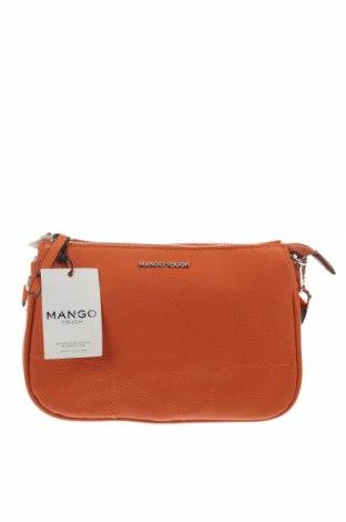 Дамска чанта Mango, Цвят Оранжев, Еко кожа, Цена 24,57лв.