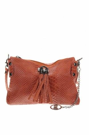 Дамска чанта Mia Tomazzi, Цвят Кафяв, Естествена кожа, Цена 202,30лв.