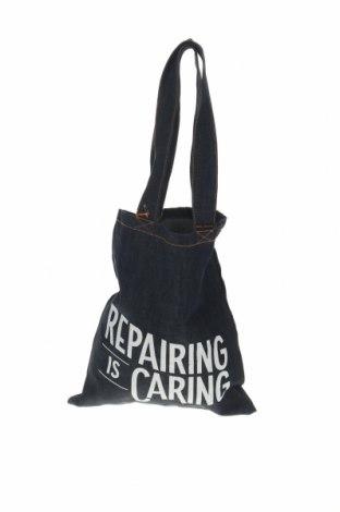 Дамска чанта Nudie Jeans Co, Цвят Син, Текстил, Цена 88,78лв.