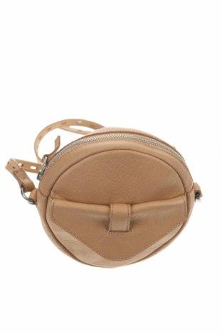 Дамска чанта Selected Femme, Цвят Бежов, Естествена кожа, Цена 31,50лв.