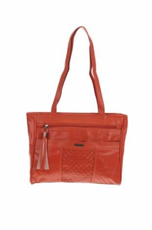 Γυναικεία τσάντα Stefano, Χρώμα Πορτοκαλί, Γνήσιο δέρμα, δερματίνη, Τιμή 35,33€