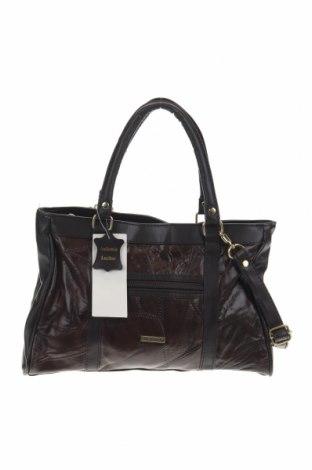 Дамска чанта Stefano, Цвят Кафяв, Естествена кожа, еко кожа, Цена 49,14лв.