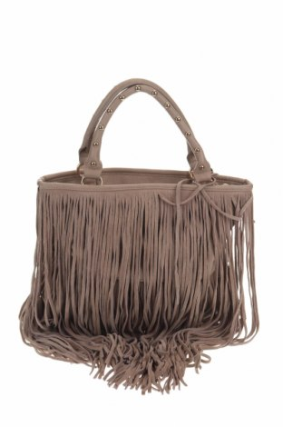 Дамска чанта Suite Blanco, Цвят Бежов, Естествен велур, еко кожа, Цена 43,37лв.