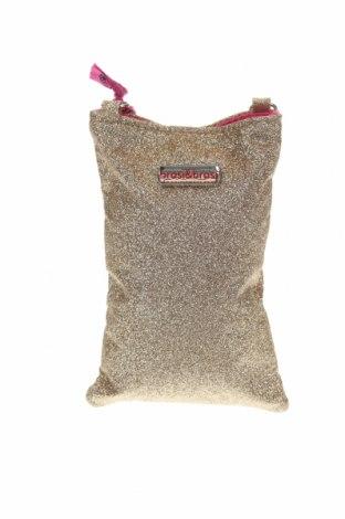 Дамска чанта brasi & brasi, Цвят Златист, Текстил, Цена 82,95лв.