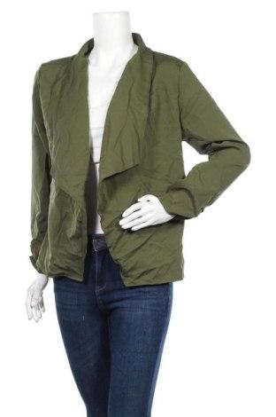 Дамска жилетка, Размер M, Цвят Зелен, 65% памук, 35% полиестер, Цена 6,04лв.