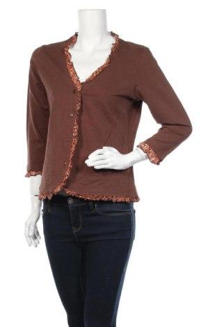 Дамска жилетка Anne Weyburn, Размер L, Цвят Кафяв, 95% памук, 5% еластан, Цена 5,51лв.