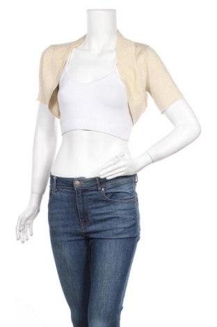 Дамска жилетка Gina Tricot, Размер S, Цвят Екрю, 75% вискоза, 17% полиестер, 8% метални нишки, Цена 23,10лв.