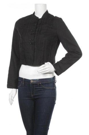 Γυναικείο πουκάμισο Noa Noa, Μέγεθος S, Χρώμα Μαύρο, 56% βαμβάκι, 44% λινό, Τιμή 20,23€