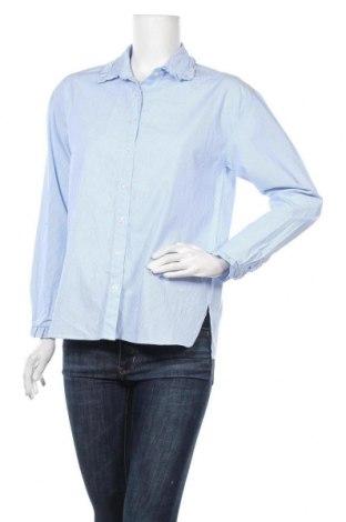 Дамска риза, Размер S, Цвят Син, Памук, Цена 16,96лв.