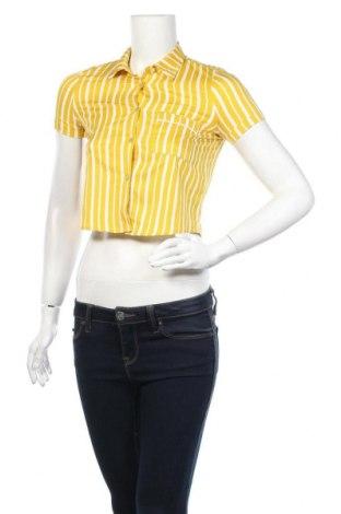 Дамска риза Grunt, Размер XS, Цвят Жълт, Полиестер, Цена 4,46лв.