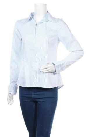 Дамска риза H&M, Размер L, Цвят Бял, 51% памук, 25% полиамид, 20% полиестер, 4% еластан, Цена 13,23лв.