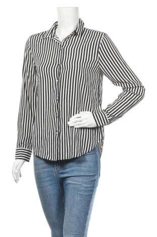 Дамска риза H&M, Размер S, Цвят Черен, Полиестер, Цена 10,56лв.