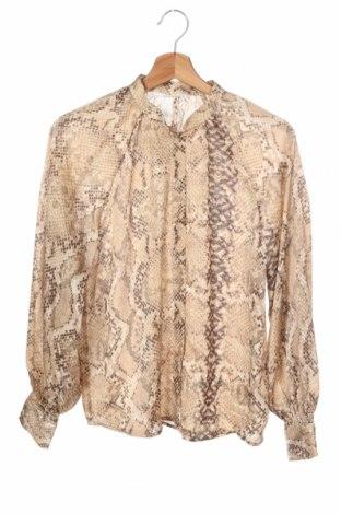 Дамска риза H&M, Размер XS, Цвят Бежов, 98% полиестер, 2% еластан, Цена 13,20лв.