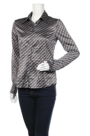 Дамска риза H&M, Размер M, Цвят Сив, 96% полиестер, 4% еластан, Цена 15,12лв.
