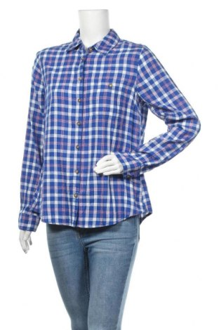 Дамска риза H&M L.O.G.G., Размер XXL, Цвят Син, Памук, Цена 16,96лв.