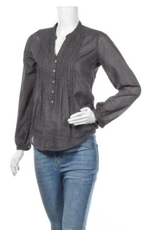 Дамска риза H&M L.O.G.G., Размер XS, Цвят Сив, Памук, Цена 16,50лв.